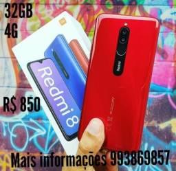 Redmi 8 vermelho novo 32GB