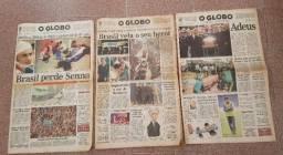Jornal O Globo - A Morte de Ayrton Senna (1994)