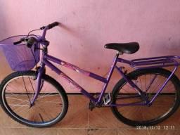 Bicicleta feminina lilás aro 26