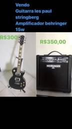 Vende se guitarra les paul strinberg +amplificador behringer 15w