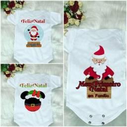 Body de Natal Personalizado Para Bebê R$24,90