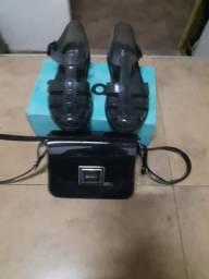 Bolsa e sandália zaxy
