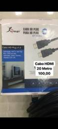 Cabo Hdmi 20 Metros 20mt 1.4 Full Hd Tv Led 3d Ps3 Xbox
