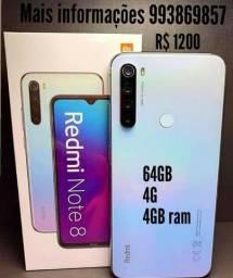 Redmi note 8 branco novo top 64GB