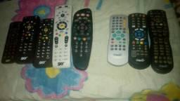 Controles e fontes de todos os tipos de tv das operadoras Claro tv e sky tv.