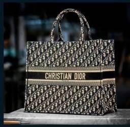 Bolsa Book Tote Praia Bordada Christian Dior novo