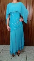 Vestido Azul Tiffany para Festas semi-novo