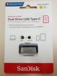 Pendrive SanDisk 32 GB - Dual Drive USB - Tipo C