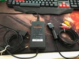 Fonte Ac Playstation 2 + Cabo Originais ( Ps2 Slim 70000 Series Bivolt 8.5v)