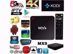 TV box 4k com 715 canais de TV de graça