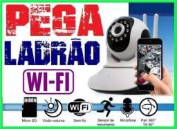 Câmera de segurança Ip Robo/Visão Noturna/Wifi/Monitore de Qualquer Lugar Com Internet