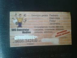 Prestação de serviços sos medina whatsapp 047996963424 pintor .pedreiro . serviços gerais