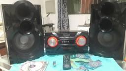 Aparelho de som Panasonic 600 rms bluethoot CDs usb e nota fiscal aceito cartão?????