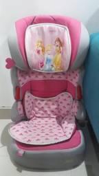 Cadeira de carro para criança até 8 anos das princesas