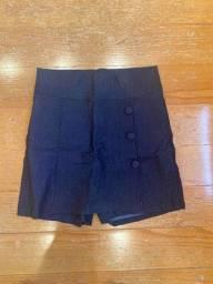 Hot pants em jeans azul marinho tamanho M novo