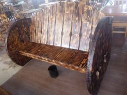 Bancos rústicos em madeira maciça, usado comprar usado  Belo Horizonte