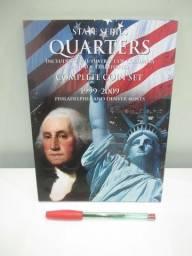 Álbum de moedas State Series Quarters 1999-2009 + Territories + 89 moedas