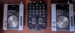 CDJ Pioneer 200 + Mixer Behringer VMX com USB