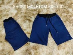 Shorts Jeans claro, jeans rasgado e Moletom