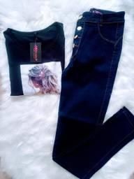 Título do anúncio: Kit t-shirt mais calça jeans