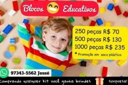 Blocos Pedagogicos de Montar + Brinde Surpresa