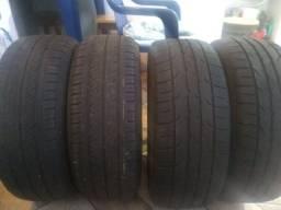 4 pneus 195/55 R15 ( 2 Dunlop e 2 Goodride ) ZERADOS