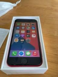 Iphone SE vermelho, semi-novo, 128gb, com carregador e fone de ouvido, original