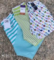 Título do anúncio: Kit 5 shorts masculino mauricinho novos
