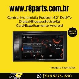 Central Multimídia Positron 6.2'' Dvd/Tv Digital/Bluetooth/Usb/Sd Card/Espelhamento