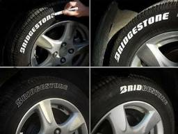 Caneta para pintar pneu de moto, carro e bicicleta