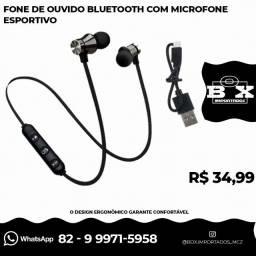 Fone De Ouvido Bluetooth Com Microfone Esportivo