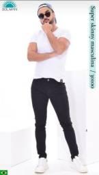 Título do anúncio: Calça jeans preta masculina. 38 ao 48 o tamanho. Apenas R$ 129,90 cada.