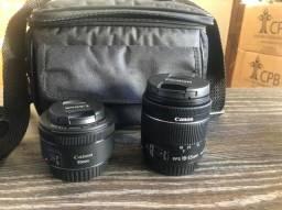 Kit Câmera Canon Sl2 c/ lente 18-55 e 50 mm