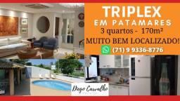 Título do anúncio: Residencial Patamares, em Patamares Casa Triplex 3 quartos, em 170m² - (R2)