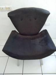 Pra vender hoje! Cadeira poltrona acolchoada cor marrom