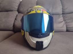 Título do anúncio: Viseira capacete ls2 Iridium ff358