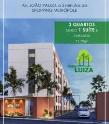 Apartamento 3/4 sendo 1 suíte PARK LUIZA