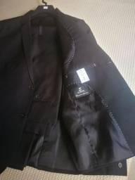 Grade de ternos em Oxford preto