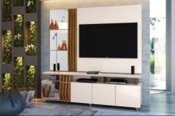Título do anúncio: Rack Com Painel Donna 100% MDF, Ideal para TVs até 55 Polegadas - Entrega Imediata!