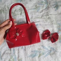 Título do anúncio: Bolsa vermelha infantil com lacinho