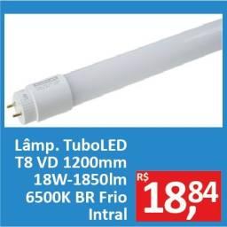 Lâmpada Tubo LED T8 1200mm 18W-1850 6500k BR Frio - Intral - Promoção R$ 18,84