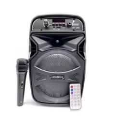 Caixa Som Bluetooth Com Microfone 10w Lehmox Les1061