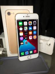 iphone 7 gold - 256gb fone e carregador originais
