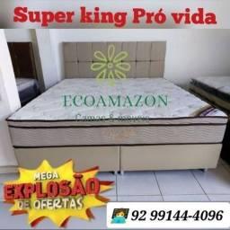 Título do anúncio: CAMA SUPER KING. PRÓ VIDA ORTOBOM LUXUOSA