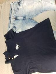 Conjunto camisa polo e calca Jeans