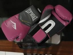 Vendo Luvas de Boxe Everlast pro Style Elite Training - 8 Oz Rosa com Cinza