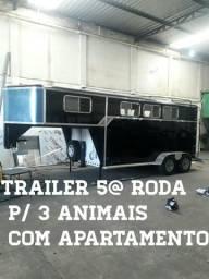 Trailers 5@ roda e de rabicho para transporte de animais