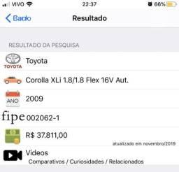 Corolla XLI 1.8 2009 Abaixo da Fipe - 2009