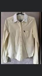 Vendo camisa Abercrombie amarela
