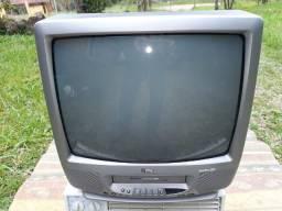 Tv Philco DueTro 20pol com vídeo cassete